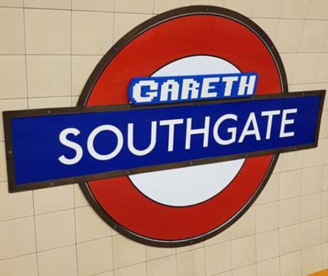 Southgate station in north London became 'Gareth Southgate' for the day