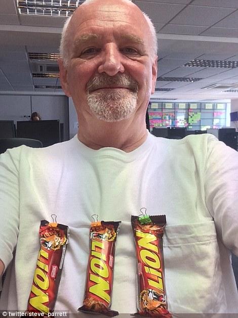 Steve Parrett has an alternative Three Lions on his shirt today