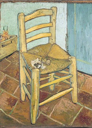 It noted Vincent Van Gogh's year of blockbuster paintings in 1888, when he produced Sunflowers, Van Gogh's Chair (pictured) and Starry Night Over The Rhone