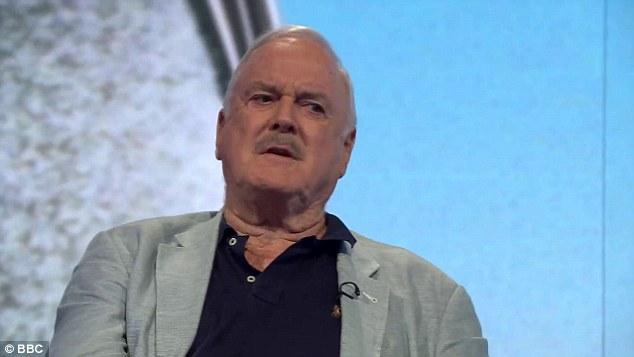 Shane Allen, the BBC comedy boss, annoyed John Cleese (above) by saying that Monty Python's 'white, Oxbridge' males were out of step with modern TV