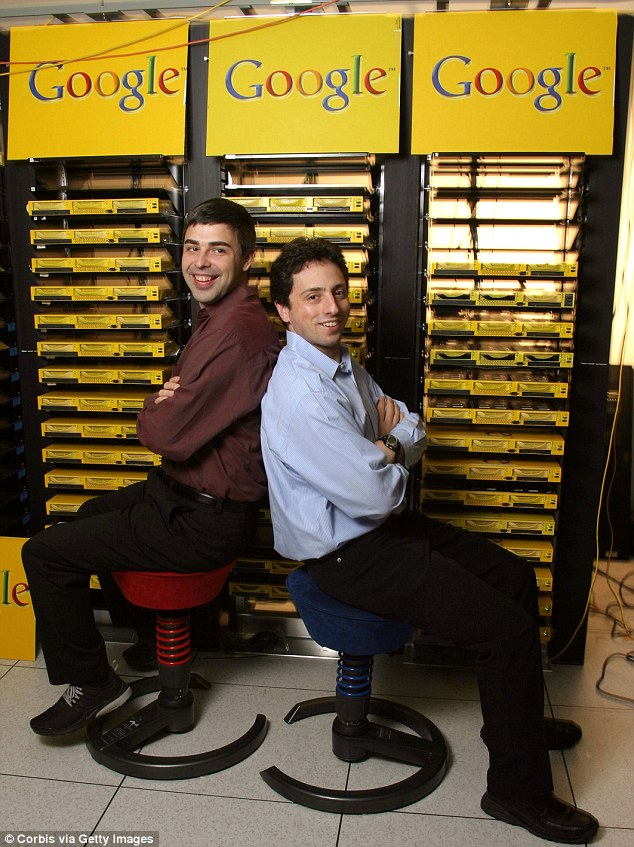 . A new book has revealed the wild early days at Google when it was a booze-soaked, hard-partying start-up (Larry Page (L), Co-Founder and President, Products and Sergey Brin, Co-Founder and President in 1998)