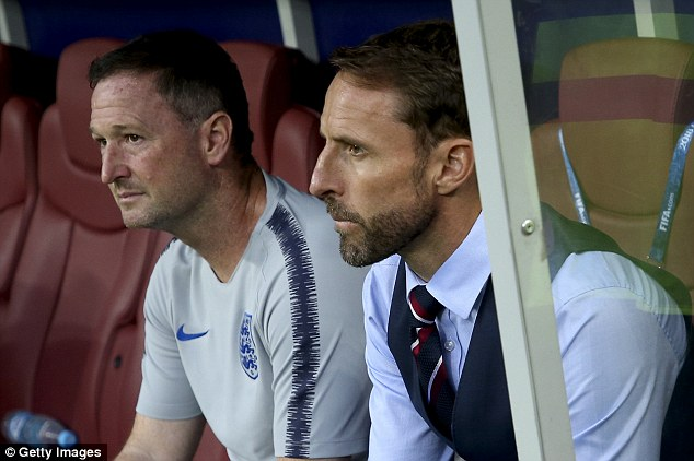 Southgate watches on on Wednesday night as England exit the World Cup against Croatia