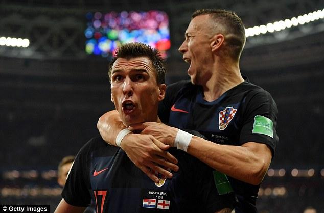 Perisic also won the header that led toMario Mandzukic's winning goal in extra-time