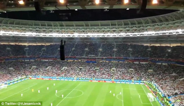 England tried to use their initiative as Croatia celebrated off the pitch but the ref stopped it