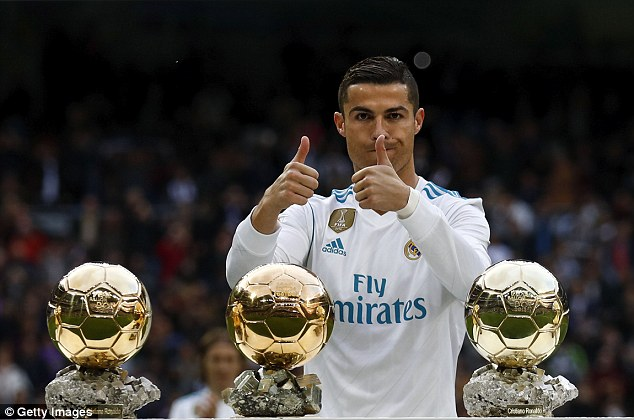 Cristiano Ronaldo - now of Juventus - won his fifth Ballon d'Or award at Real Madrid in 2017
