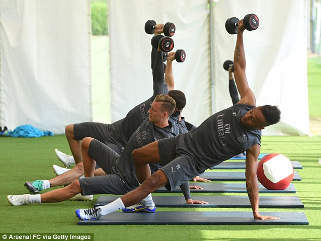 Emery's training has started off intense as he looks to get his players in shape quickly
