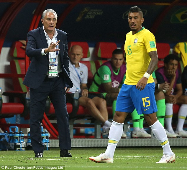 Brazil coach Tite (left) has come under criticism from Cafu who feels there is much work ahead
