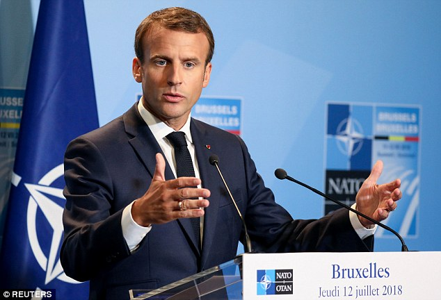 French President Emmanuel Macron appeared to undercut claims by President Donald Trump that he had wrung new spending commitments out of fellow NATO members