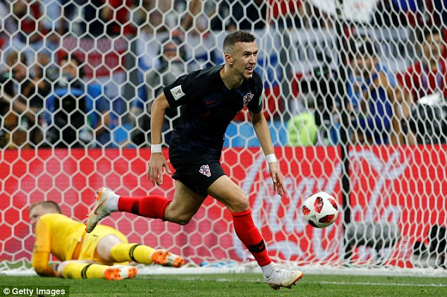 The 29-year-old scored Croatia's first goal against England at the Luzhniki Stadium in Moscow