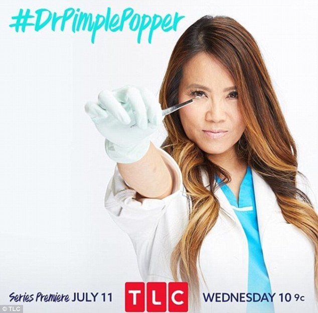Exciting: Dr Lee also just launched her new TV show on TLC called Dr Pimple Popper. On the show, she helps real-life patients tackle their skin problems