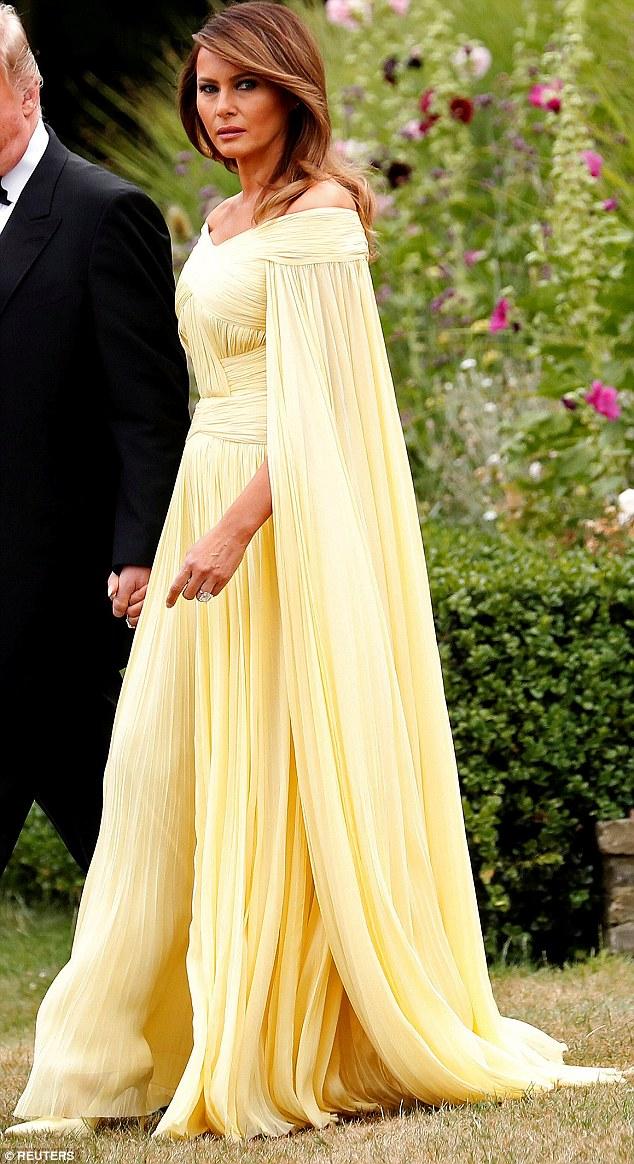 Yellow Dress Melania Trump