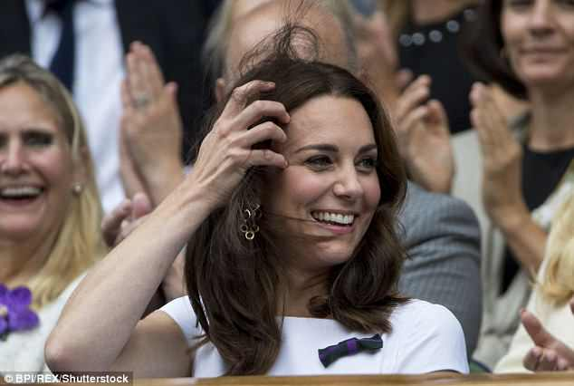 Kate  Middleton will also watch the men's singles final on Centre Court with Prince William