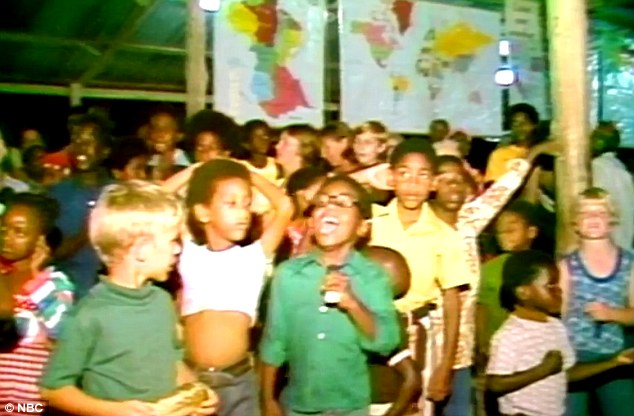 Innocent victims: Children are seen at Jonestown in a video shot shortly before the mass causality event