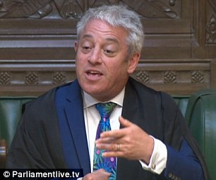 John Bercow, the Speaker of the House of Commons
