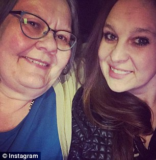 Jena Christiansen (right) and her mother Karen (left) were killed by a boulder that slid off a truck on Monday