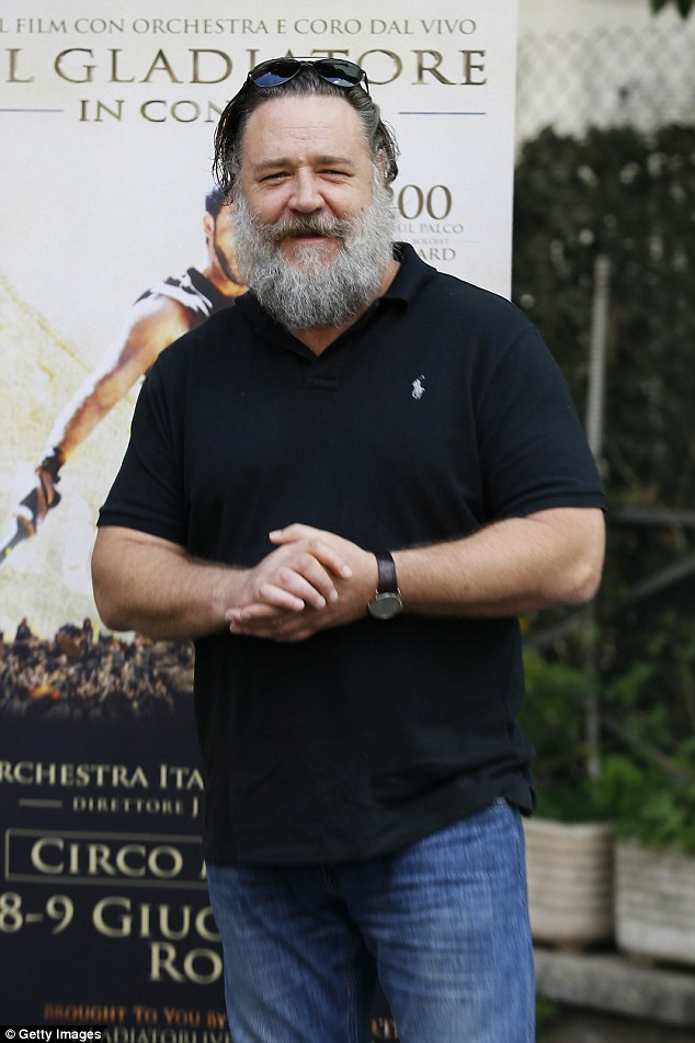 Behind the name: New Zealand star Russel Crowe's middle name, Ira , has origins in Hebrew, and appears in the Bible as one of the 'mighty men' (Pictured in June, 2018)