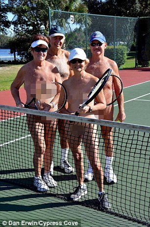 Pictures from the resort show delighted members playing tennis or spending time together