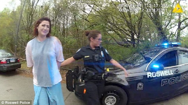 Sarah Webb was pulled over after allegedly speeding past a police cruiser on her way to work