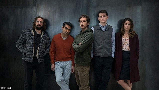 HBO mainstays Curb Your Enthusiasm and Silicon Valley were also nominated (Cast of Silicon Valley pictured)