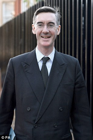 Jacob Rees-Mogg - the defacto leader of Tory Brexiteers - told the BBC: 'The UK wants to do a trade deal with Donald Trump, and he said if you want to do a trade deal with the United States this isn't the way to do it.'