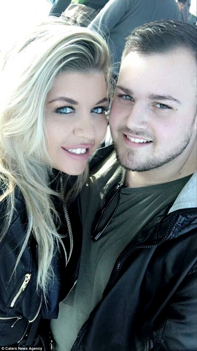 Nadine (pictured with Kyle) is now focusing on healing her scars as soon as possible, ahead of her wedding next year