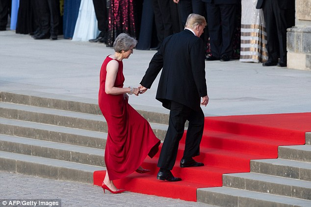 Donald Trump's (pictured with Theresa May at Blenheim Palace last night) incendiary remarks have sent the Special Relationship into meltdown, are a huge embarrassment for the Prime Minister personally and her Government