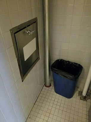 The chute is found inside the refuse closet in one of the floors of the luxury apartment building