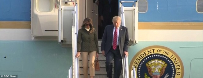 The President and First Lady arrived in Scotland amid huge protests as Donald Trump continues to tour the UK on his official visit