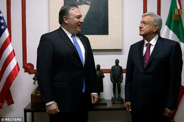 Secretary of State Mike Pompeo and Mexico's president-elect Andres Manuel Lopez Obrador met in Mexico City on Friday as the Trump administration tries to charm the new leader south of the border