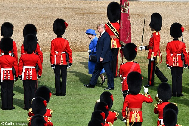 Back in step: The Queen with US President Donald Trump