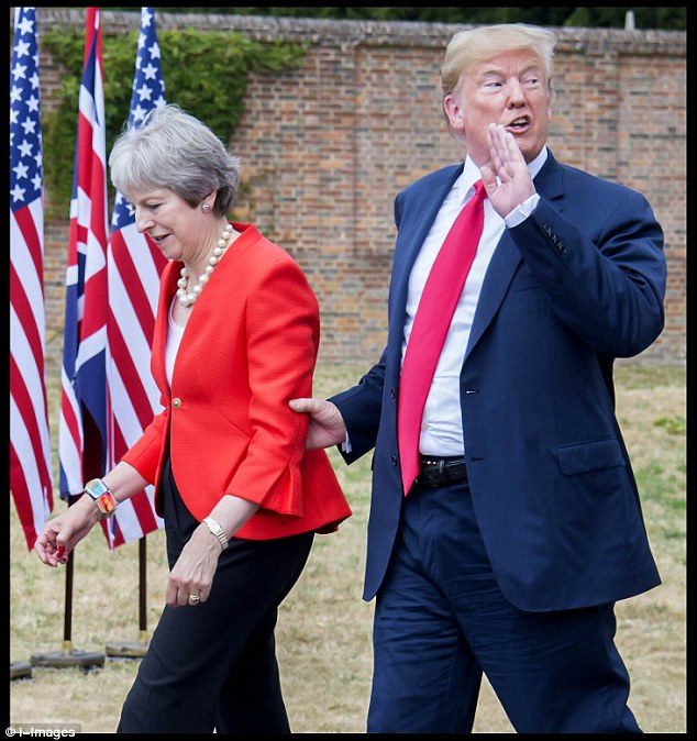 President Trump and Theresa May meet at Chequers