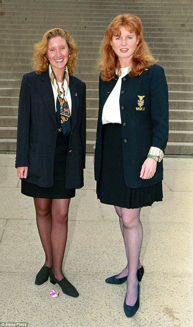 Sarah Ferguson with her dresser Jane Andrews are pictured in Washington DC when Andrews worked for Fergie