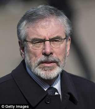Gerry Adams, former leader of the Sinn Fein political party, has been targeted in an attack