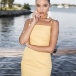 Olivia Culpo stuns in yellow at her hometown in Rhode Island