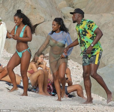 Usain Bolt marks girlfriend's birthday with bevy of bikini-clad women in St. Barts