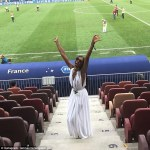 Naomi Campbell supports France at the World cup final