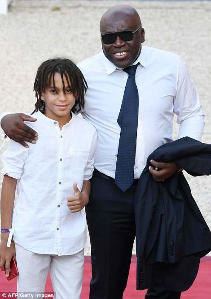 Forward Kylian Mbappe's father Wilfried Mbappe and his brother Ethan Mbappe were also seen entering the palace