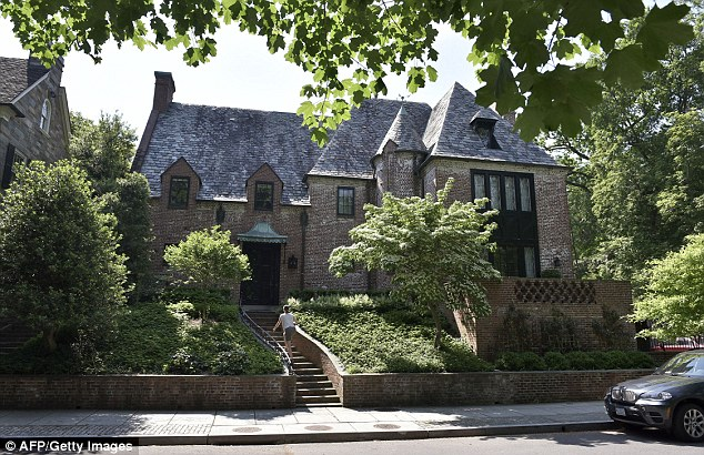 'There's only so big a house you can have,' he added (the Obamas' Washington DC house in the upmarketKalorama neighbourhood)