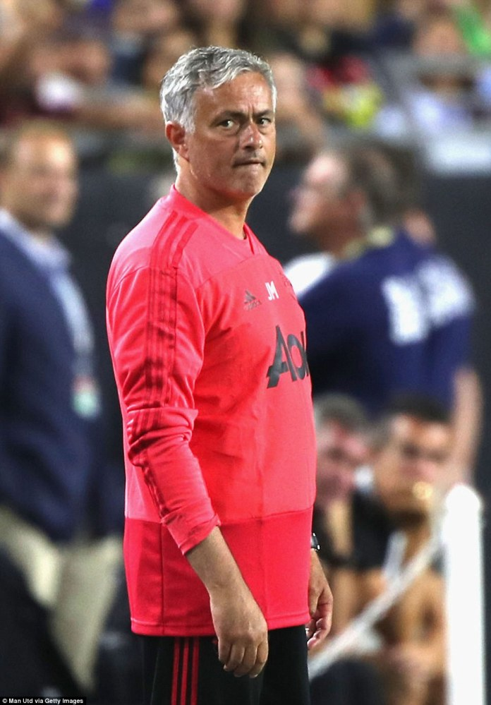 Mourinho watches on as his team continued to build up their fitness before the new season
