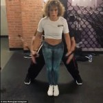 Jennifer Lopez and Alex Rodriguez sweat it out in the gym