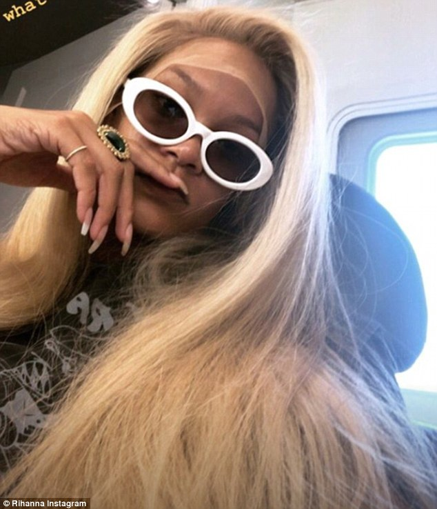 Changing it up: On Monday, she shared an image of herself in a blonde wig