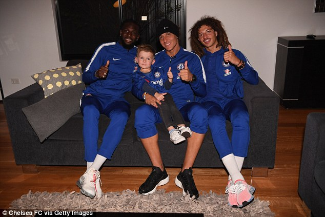 David Luiz, Tiemoue Bakayoko and Ethan Ampadu surprised young Chelsea fan Hudson McCarthy by visiting his house while on their pre-season tour of Australia