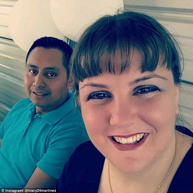 Horrific incident: Tracy Lynn Martinez (right), 35, ended up in hospital after a pedicure
