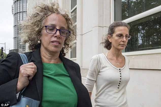 Cool customer: Bronfman defended the group and Raniere back in December (Bronfman with her attorney Susan Necheles)