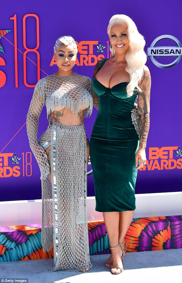 Lovely ladies: The confidantes posed with one another at the BET Awards in LA last month