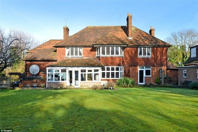 This large family home covers an area of 3,600 sq ft and includes a conservatory