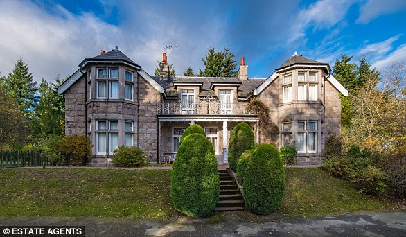 ABERDEENSHIRE: French windows open out onto a balcony on the first floor of this fourbedroom Edwardian home, near Aboyne in Royal Deeside. There's a two-bedroom coach house in the grounds.savills.com.£720,000