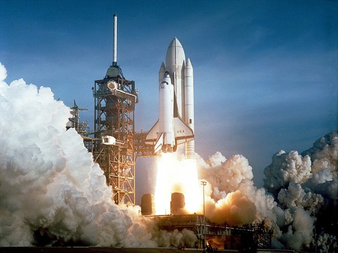 Glory days followed in the 1980s with the birth of NASA's shuttle program, a bus-sized re-usable spacecraft that ferried astronauts into space, and eventually to the International Space Station, which began operation in 1998. Pictured, Space Shuttle Columbia launching