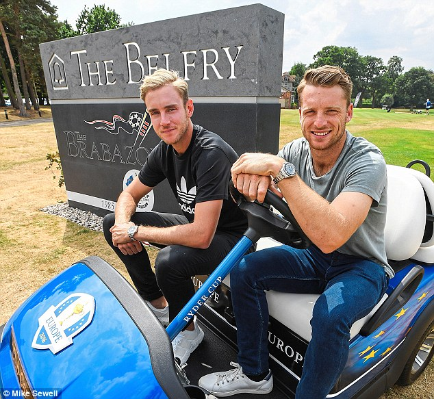 Broad and Buttler were chatting at The Belfry Hotel and golf resort after a round of golf