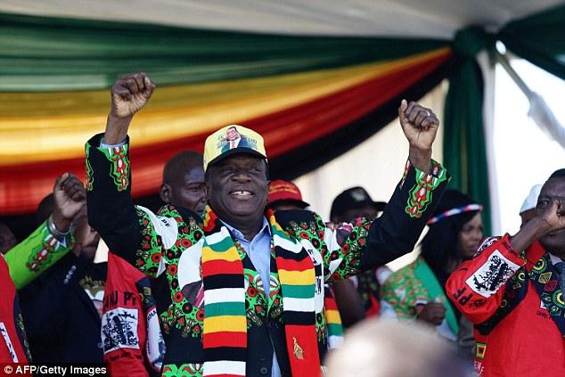 Zimbabwe's President Emmerson Mnangagwa addresses a rally in Bulawayo on June 23, 2018